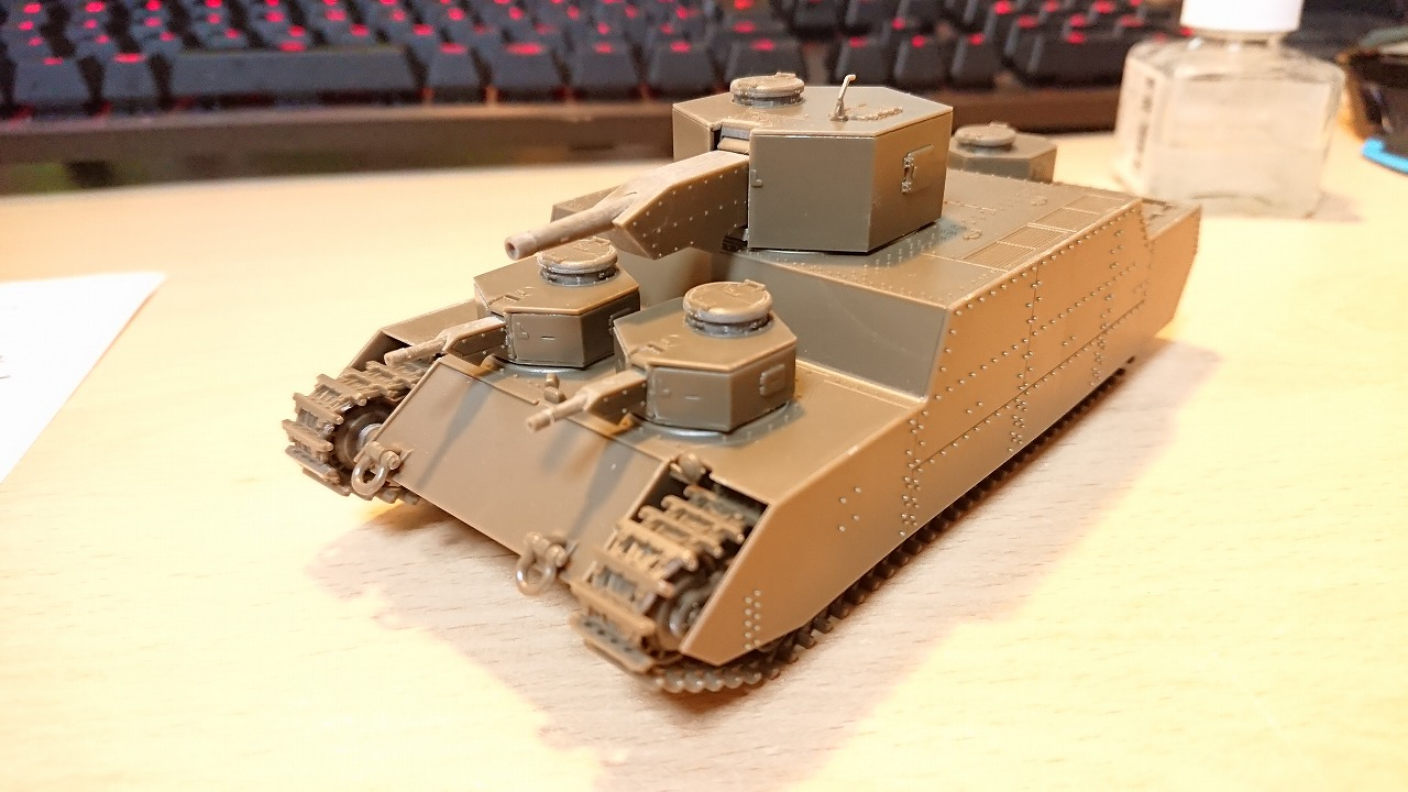 ファインモールド 1/72 陸軍150t超重戦車[オイ] を作ってみた(その3)
