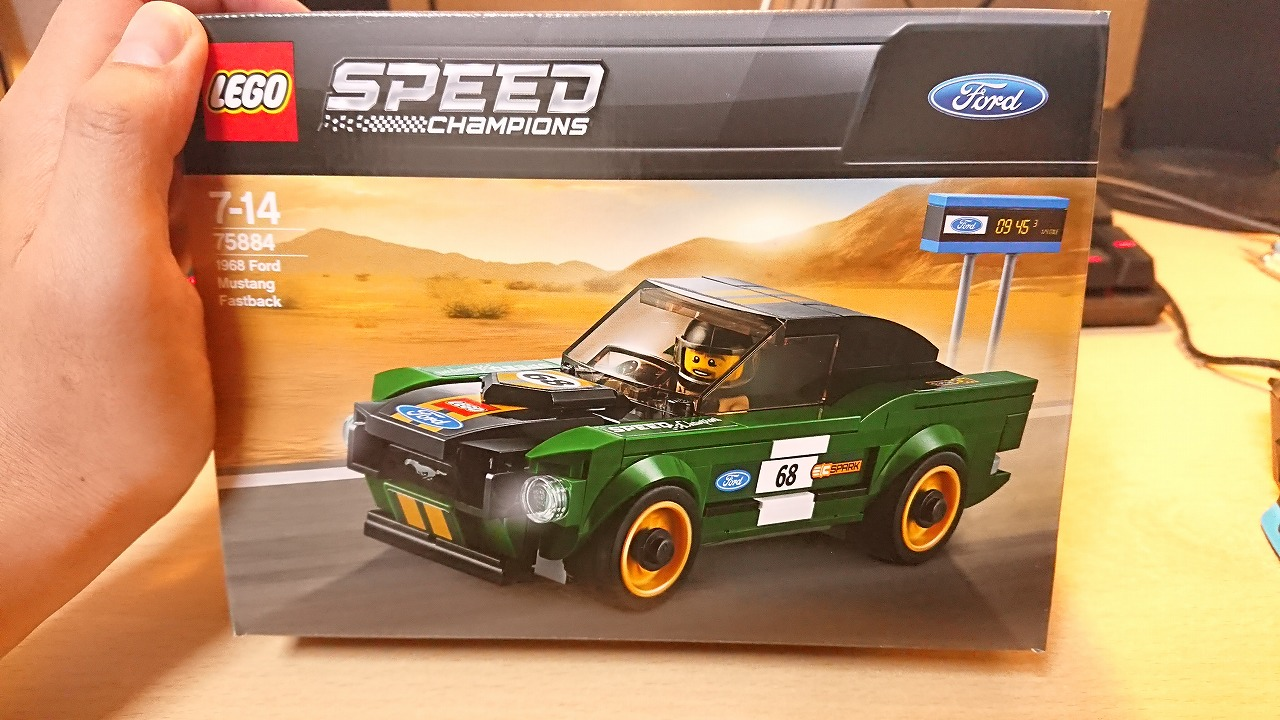レゴ(LEGO) スピードチャンピオン 1968 フォード・マスタング・ファストバック 75884 を作ってみた