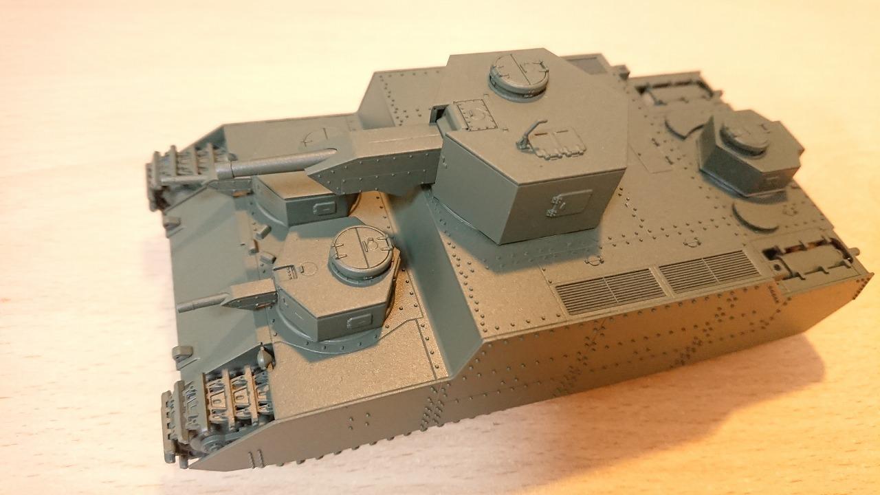ファインモールド 1/72 陸軍150t超重戦車[オイ] を作ってみた(その5)