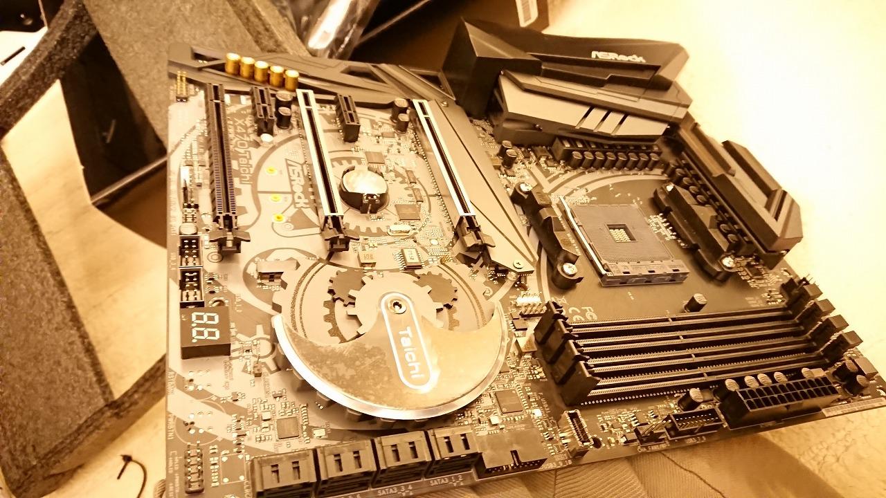 RX 580 ARMOR MK2とASRock X470 TaichiでPCを組み立てる~その1~