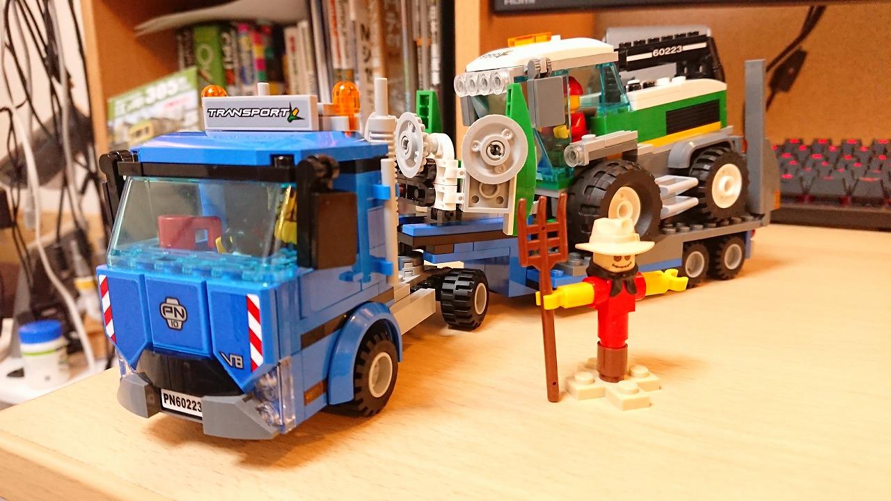 レゴ(LEGO) シティ 収穫トラクターと輸送車 60223を作ってみた(その3)~トラクターの作成~