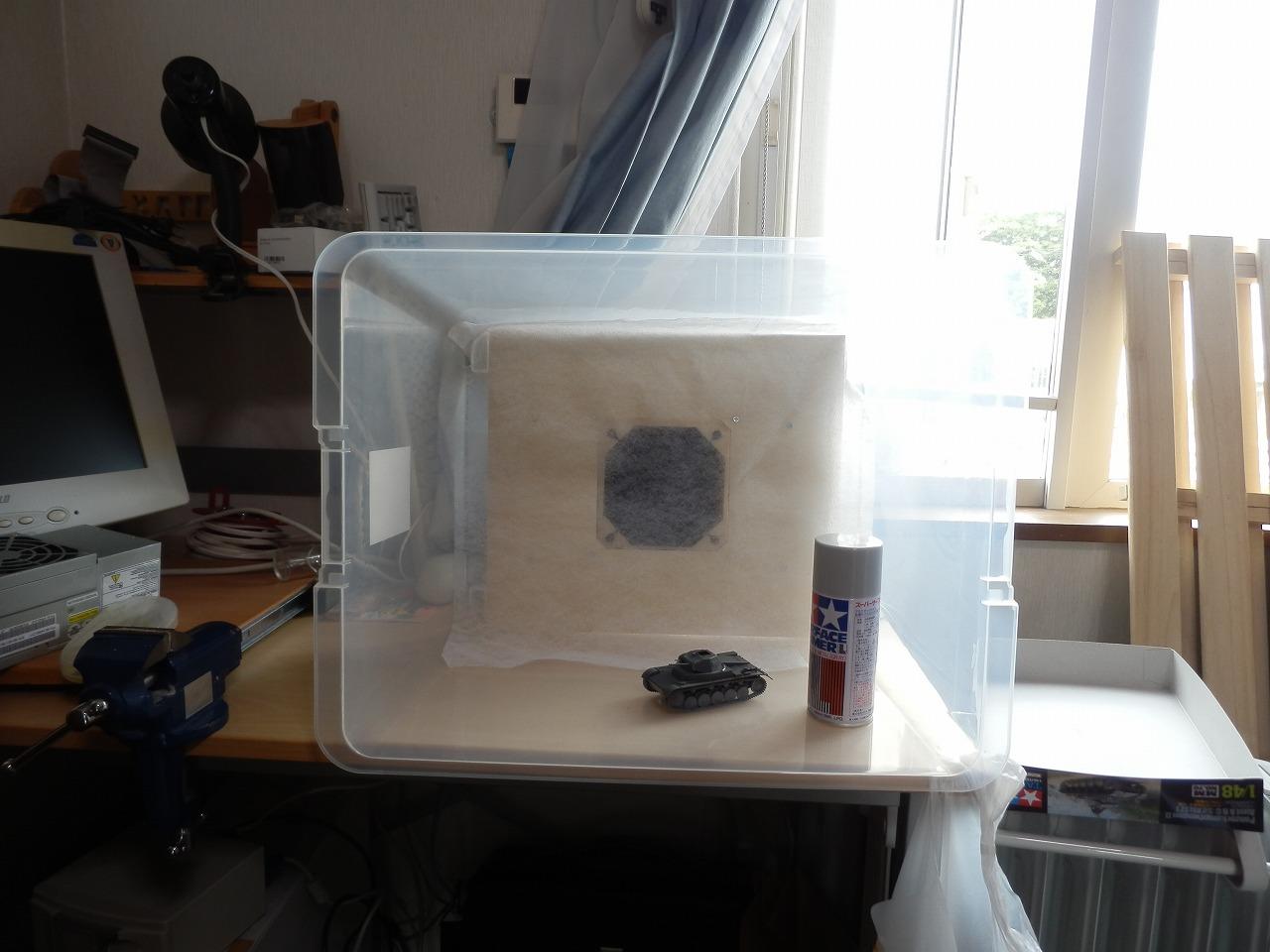 PCファンを使って塗装ブースを自作した話