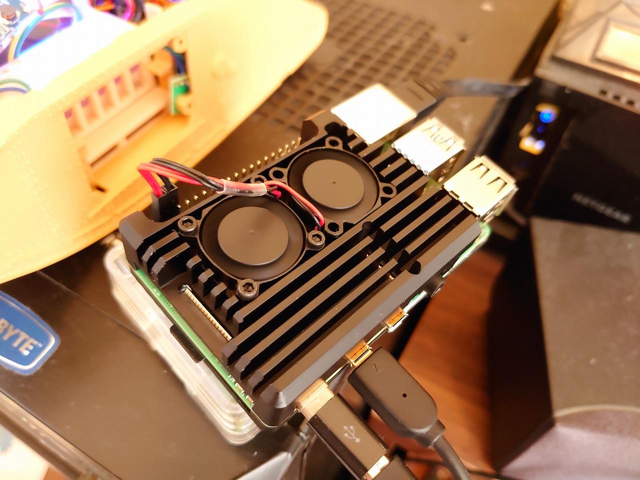 Raspberry Pi 4 Model B用アーマー金属ケース(ファン付き)を買ってみた
