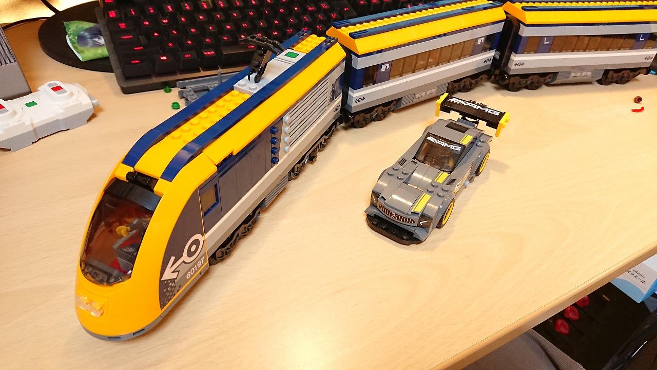 レゴ(LEGO)シティ ハイスピード・トレイン 60197 を作ってみた(その2)