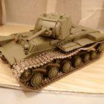 タミヤ 1/35 KV-1 ラジコン化計画 (その4) ~車体の塗装~