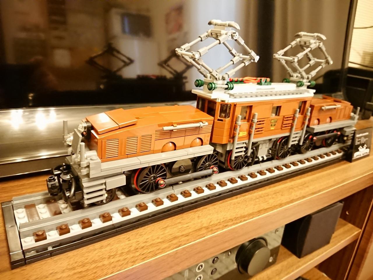 レゴ (LEGO) クリエイターエキスパート クロコダイル電気機関車 10277 を作ってみた(その3)~完成~