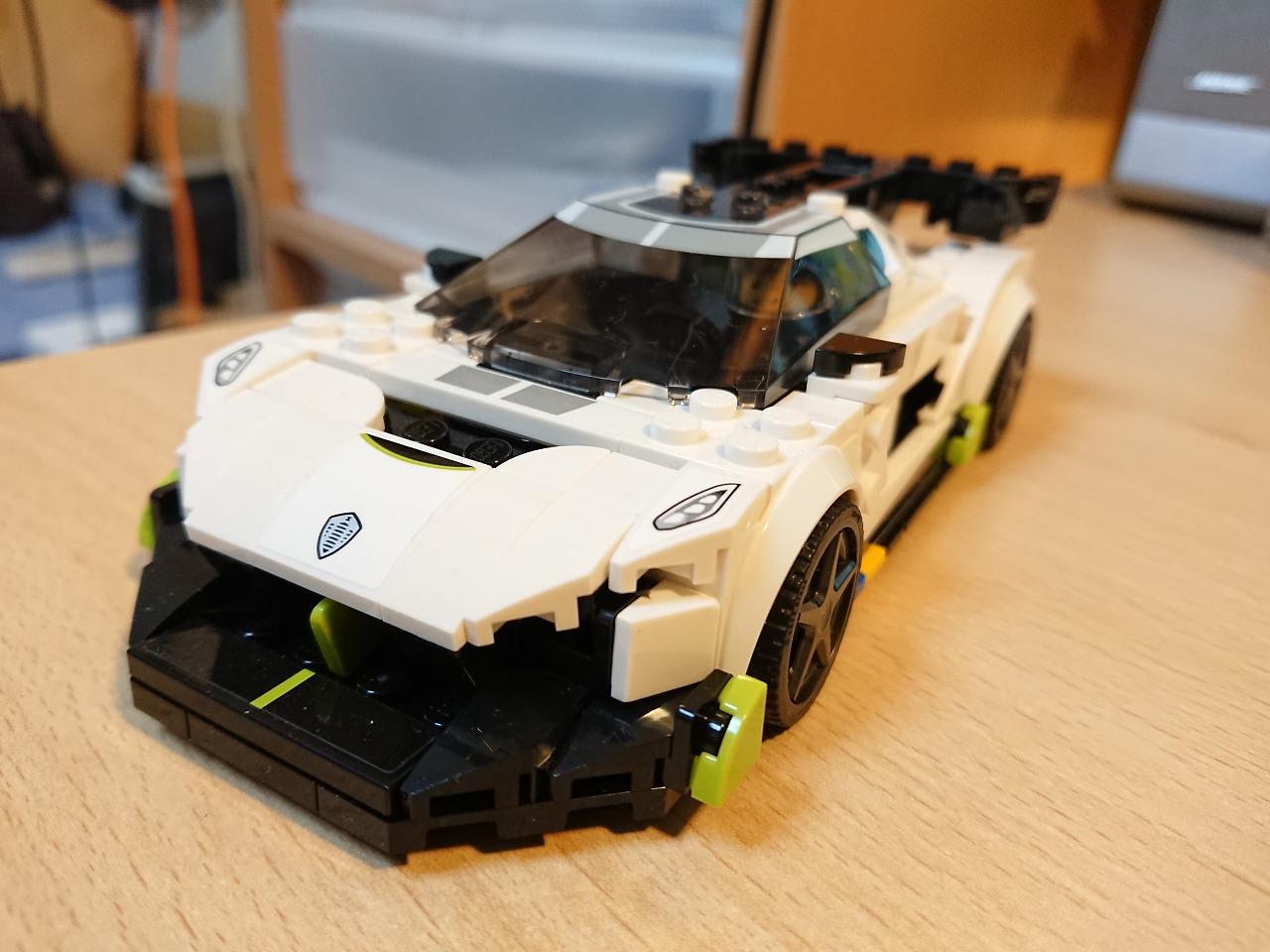 レゴ(LEGO) スピードチャンピオン ケーニグセグ ジェスコ 76900 を作ってみた(その2)